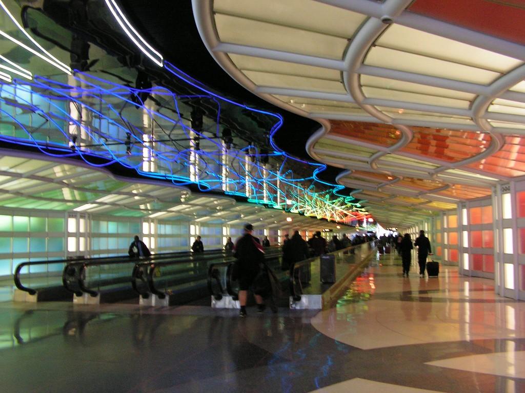 Dans l'aéroport de San Diego