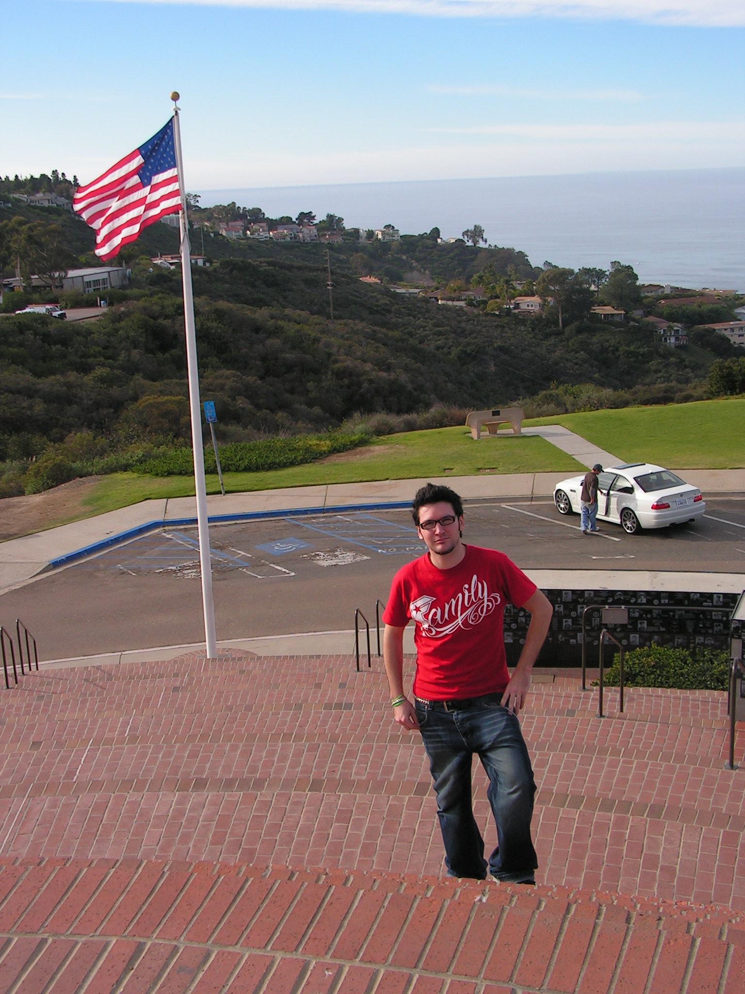 Manu & drapeau américain