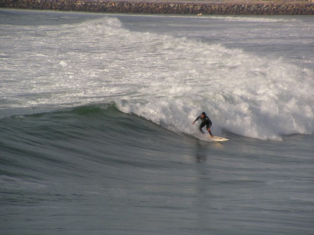 Surfeur à Ocean beach