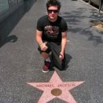 Avec l'étoile de Michael Jackson