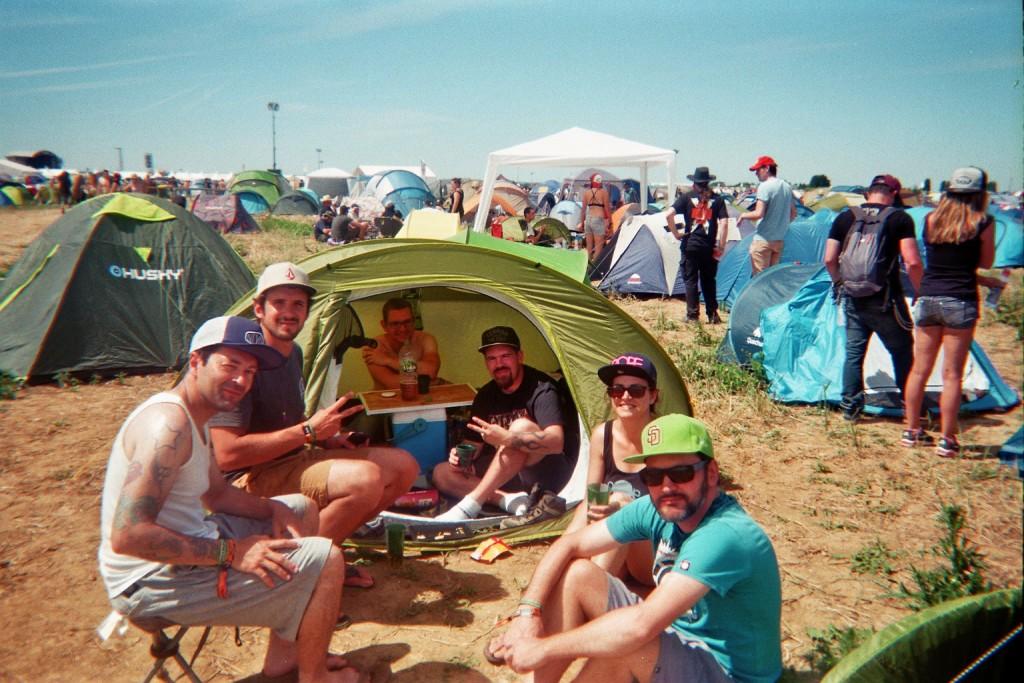 Camping au download festival