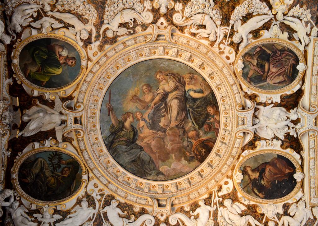 venise palais doges plafond décoration tableau
