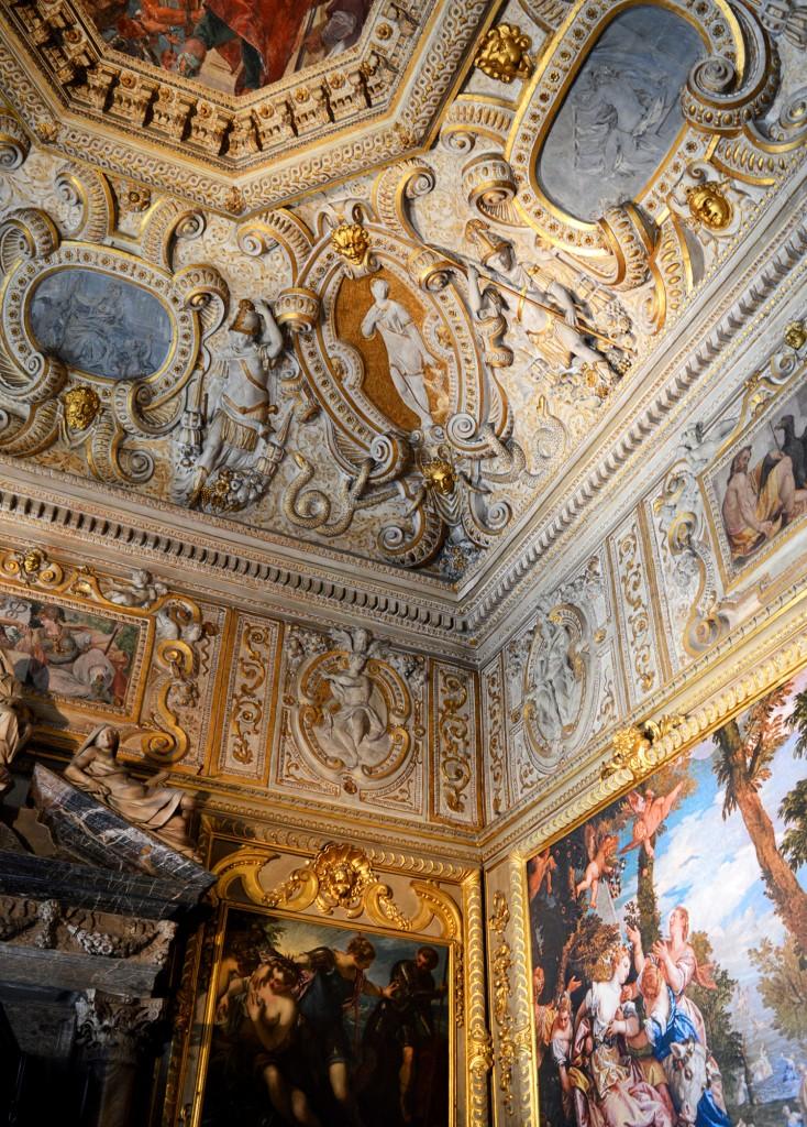 venise palais doges plafond décoration tableaux