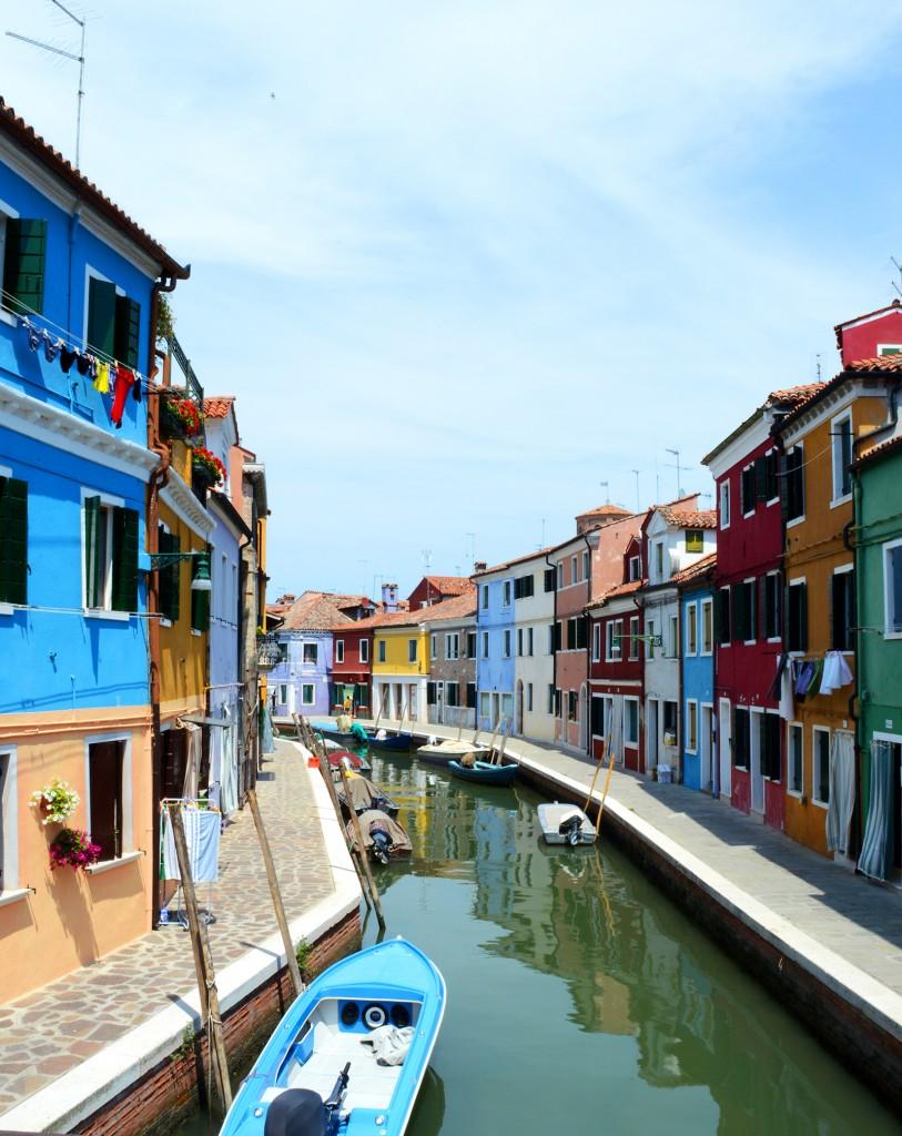 burano maisons colorées canal bateaux
