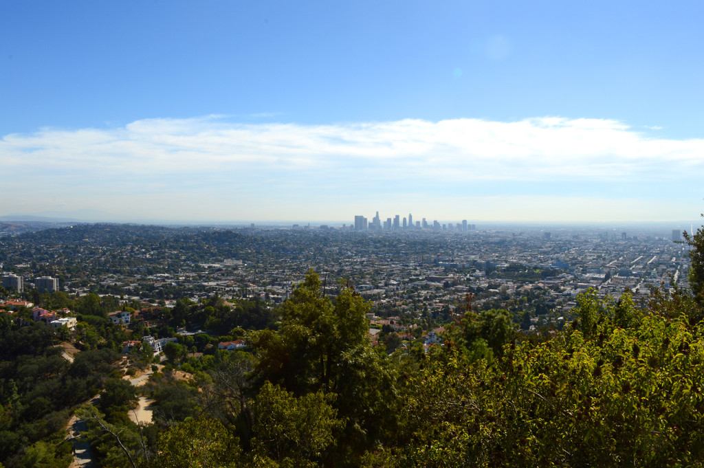 Vue sur Los Angeles et son downtown