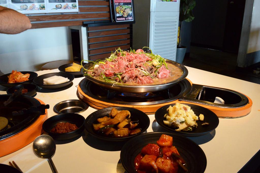Barbecue coréen de boeuf bulgogi
