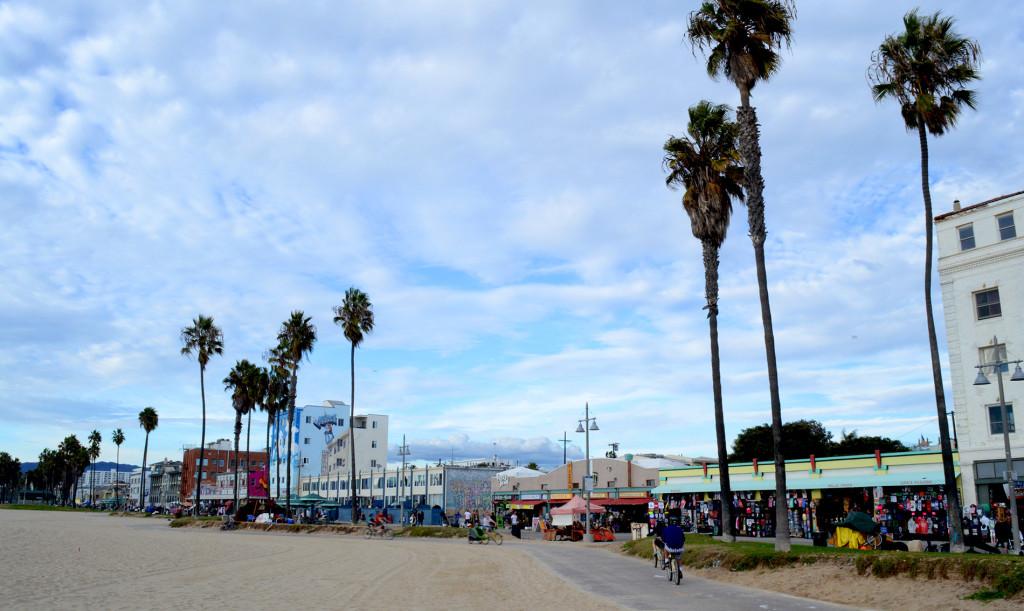 Venice Beach, avec ses palmiers et ses petits commerces