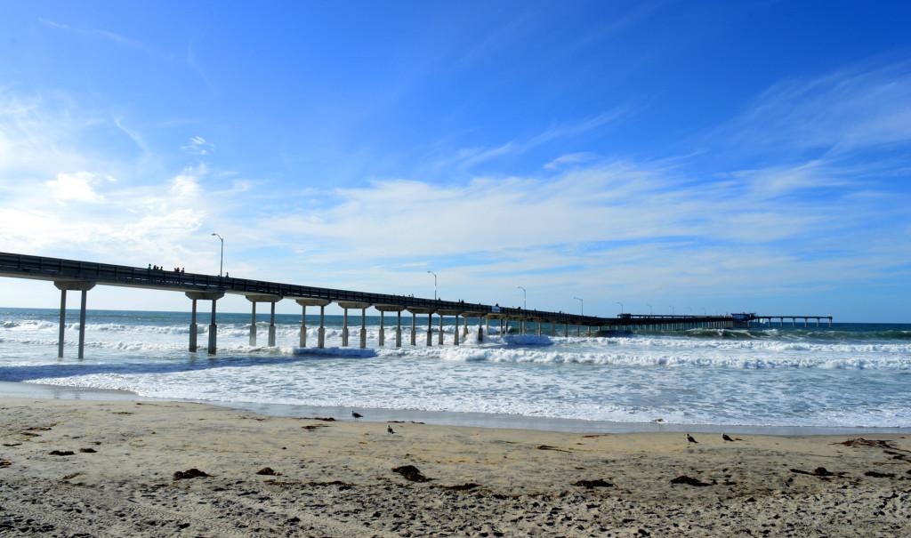 Sur la plage de Ocean Beach