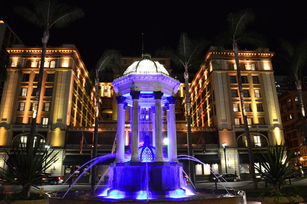 Illuminations la nuit dans le centre-ville