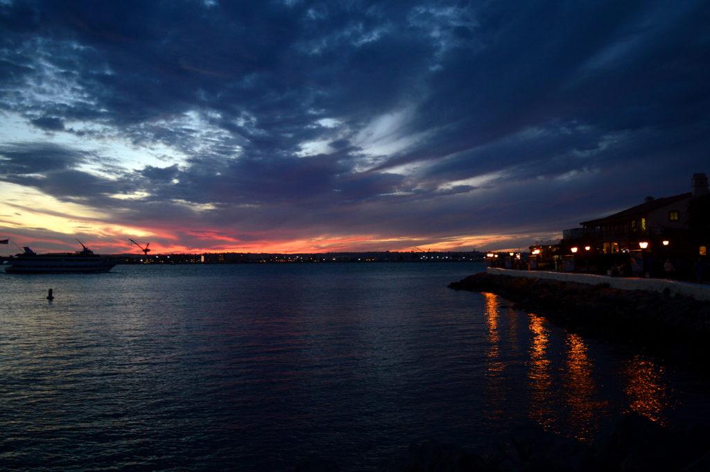 coucher de soleil depuis ocean beach