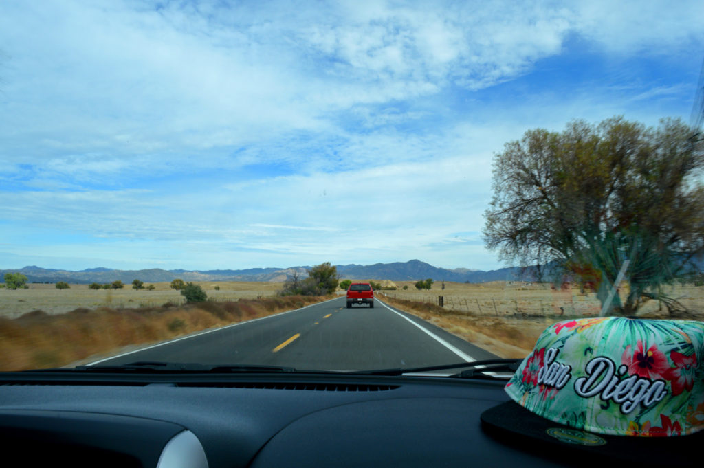 Sur la route en Californie