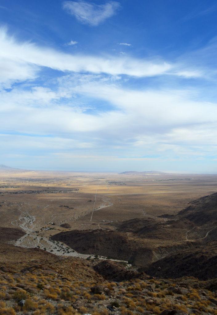 Vue sur la vallée à Anza Borrego
