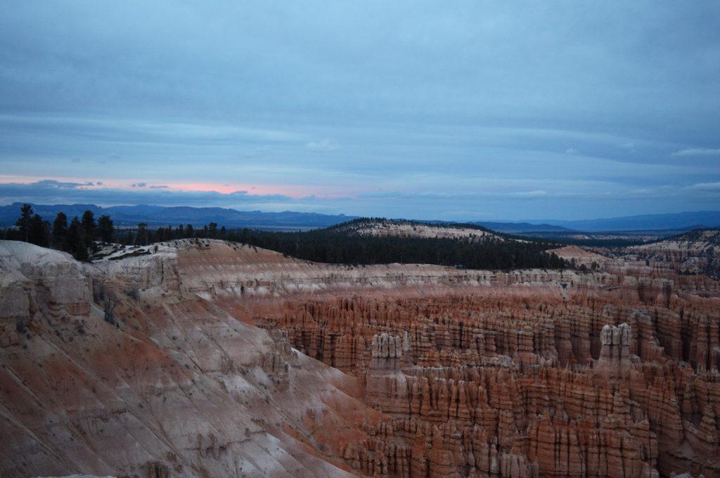 coucher de soleil sur Bryce Canyon