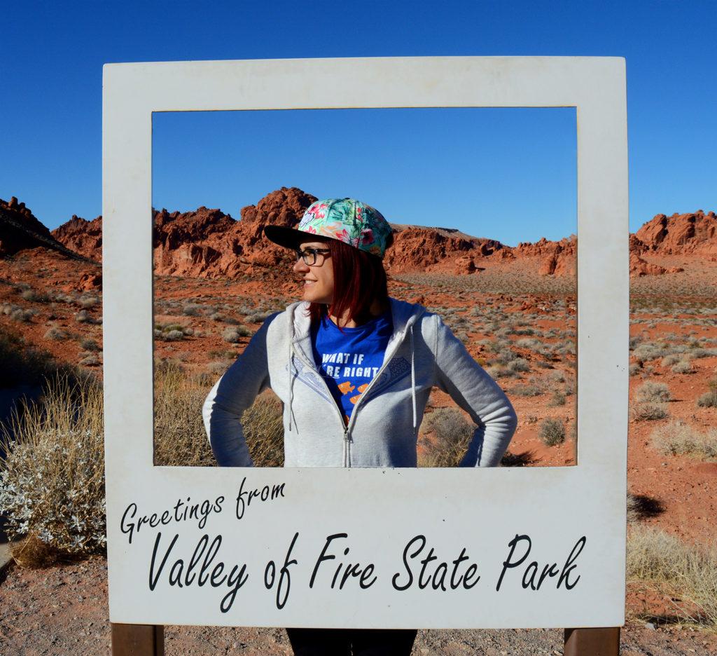panneau à entrée du parc valley of fire