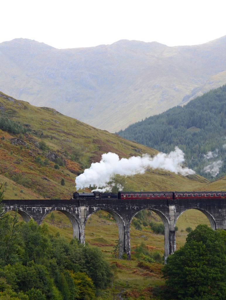 passage du train sur le viaduc
