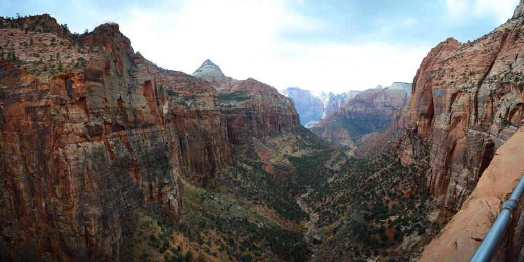 panorama sur le canyon de zion
