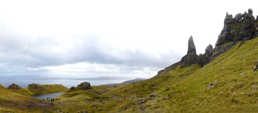 panorama près du old man of storr