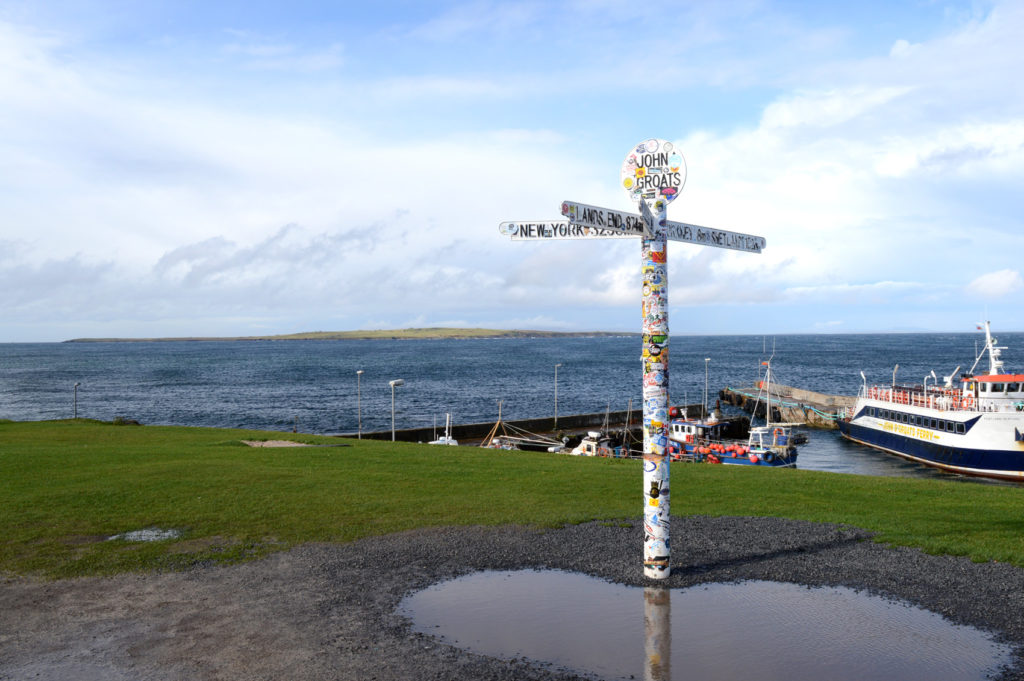point john o'groats avec la mer