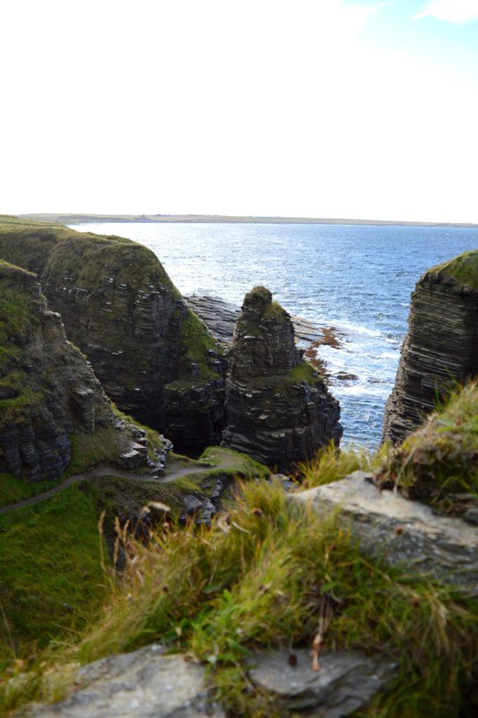 château Sinclair et Girnigoe, au milieu des falaises