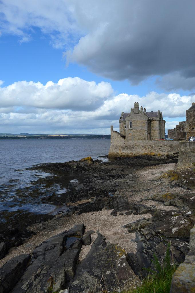 marée basse et chateau