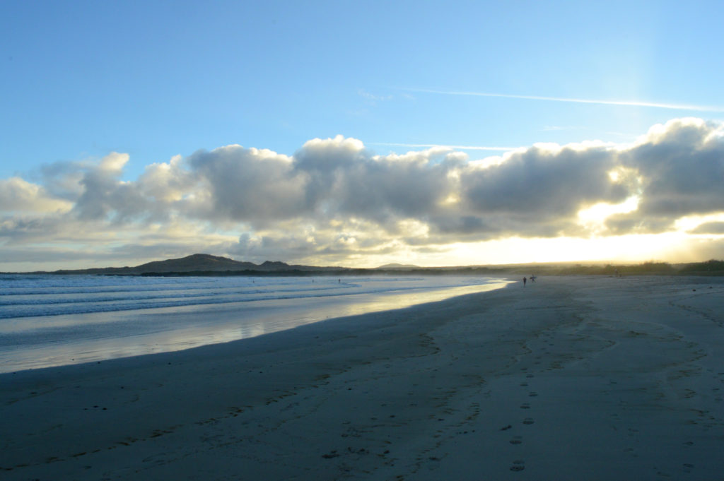 plage coucher de soleil