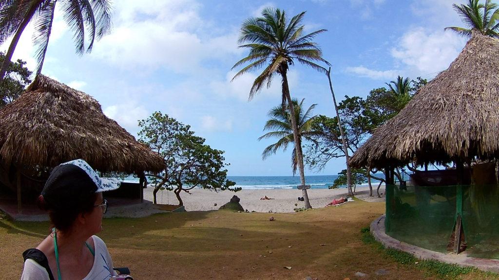 camping de hamacs et plage des caraibes à playa brava