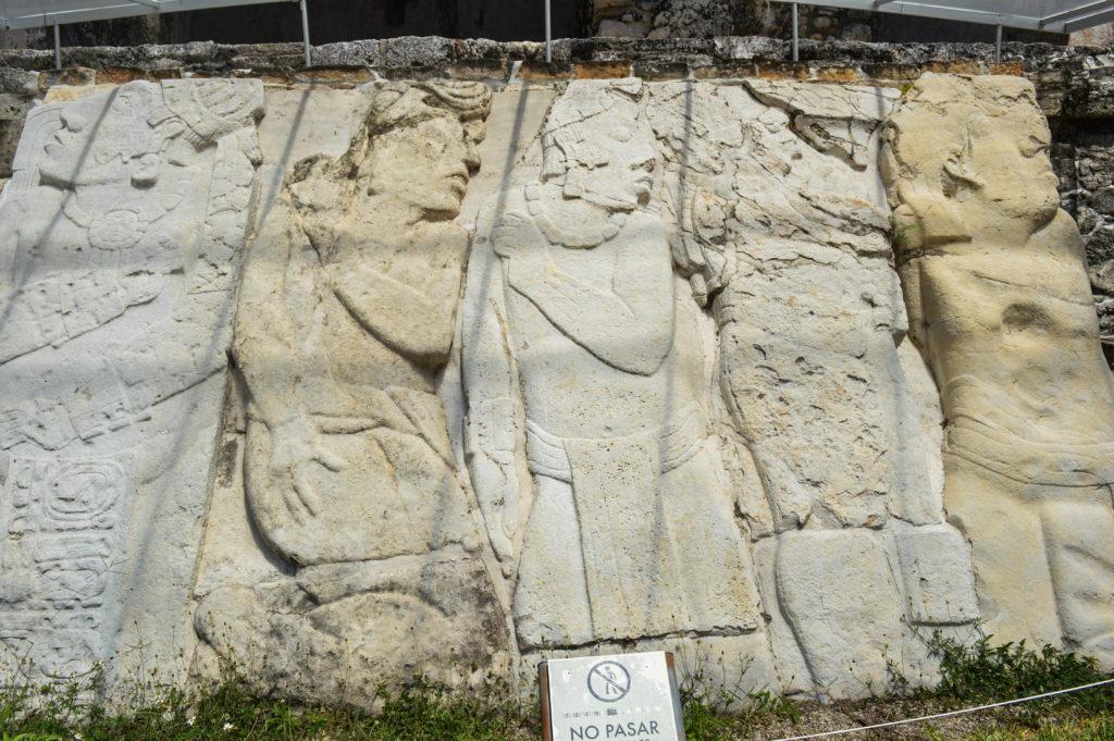 ornement maya à palenque, chiapas
