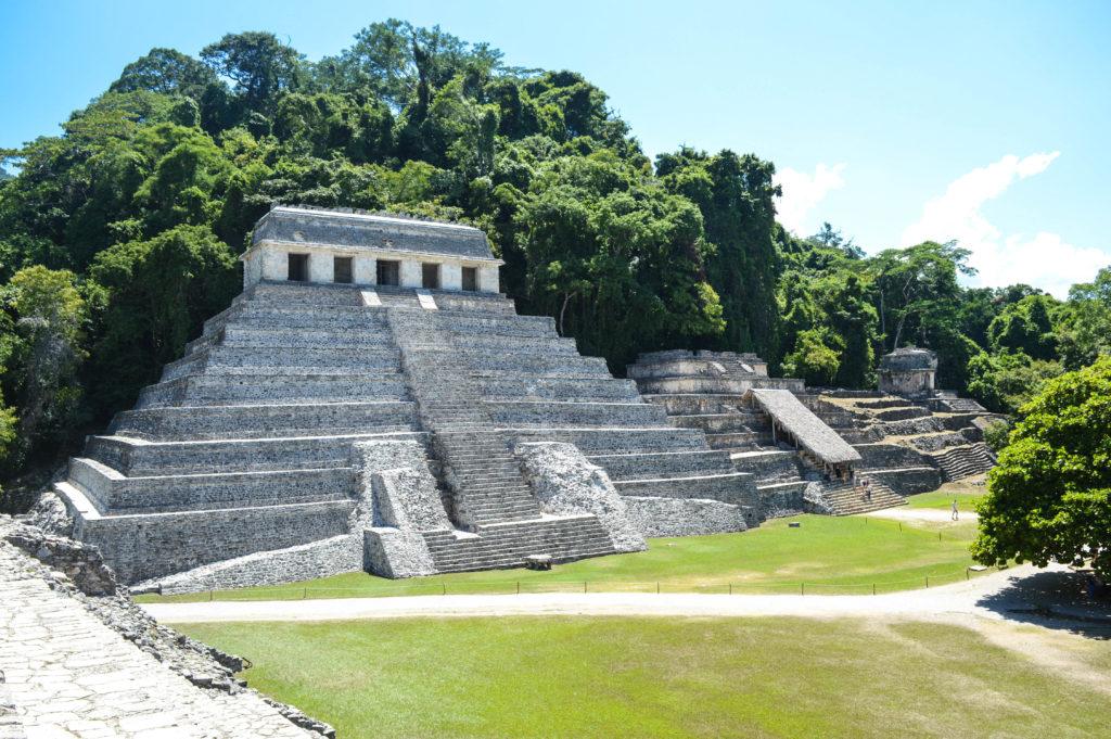 pyramide de palenque, chiapas, mexique