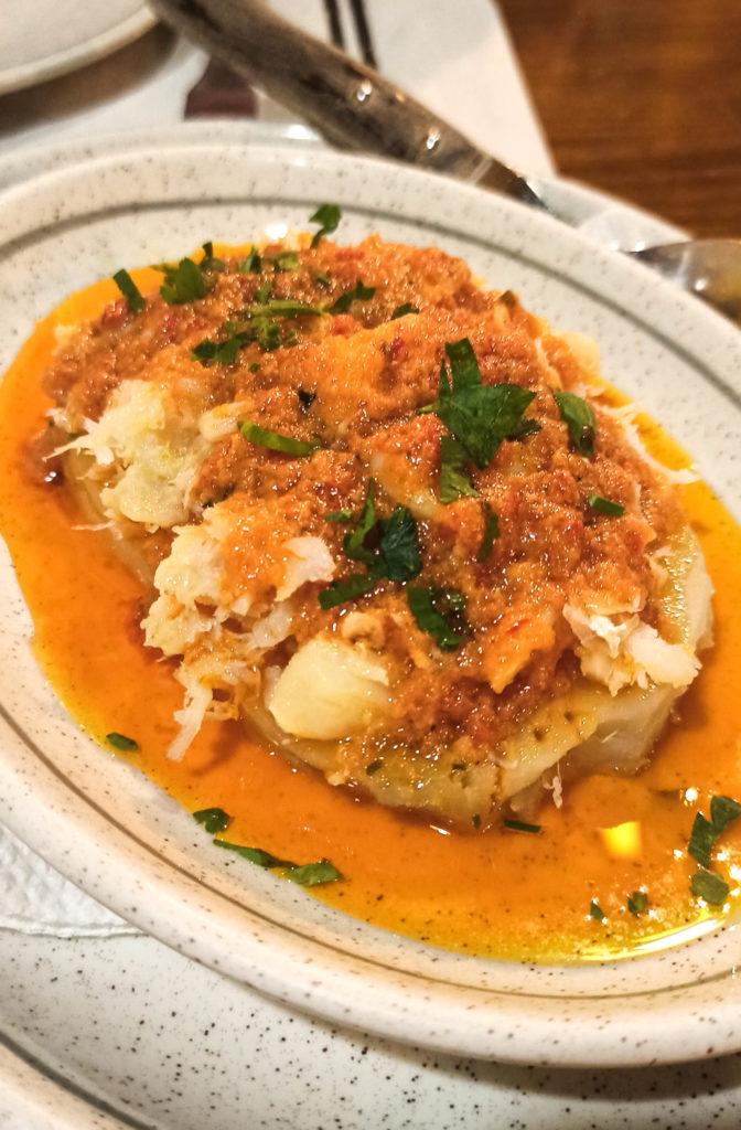 plat de morue sur patate douce